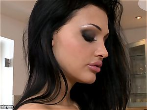 delectable female Aletta Ocean reveals her tempting breasts for everyone's dream