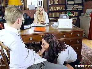 fat dicked tutor drills mind-blowing college girl Emma Leigh