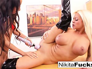 Nikita's girl/girl office shag