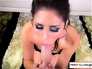 first-ever Class point of view - nubile Anna Morna suck a phat massive hard-on