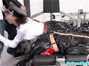 rough european 3some with 2 spandex women