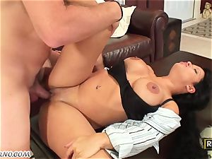 youthfull dude pokes his best friend's mexican mother