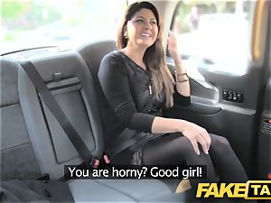 fake taxi massive facial cumshot cum shot for dark-haired in pantyhose