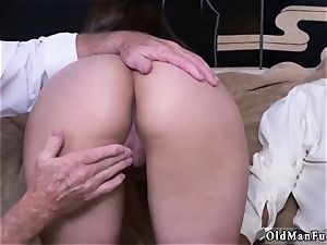 aged young rectal gangbang Ivy amazes with her enormous mammories and bootie