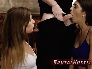 leaned over raunchy xxx 2 young fucksluts, Sydney Cole and Olivia Lua, our down south