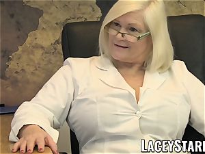LACEYSTARR - GILF munches Pascal milky cum after lovemaking