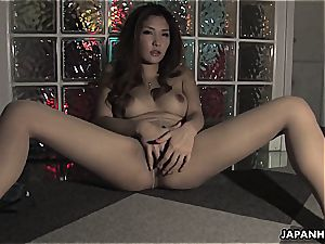 buxom chinese honey taunting the hell out of his schlong