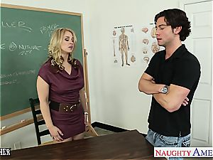naughty teacher Sarah Vandella boink in classroom