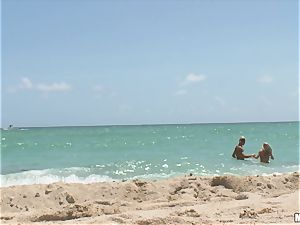 Beach honey Britney Brooks pov pummeling