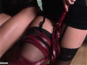 Kathia NObili torturing a sizzling brunette nymph