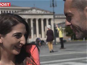 warm Spanish lady Seduced and ravaged by huge fuckpole guy