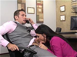 old-school cougar ravaging at office