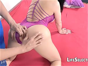 Aletta Ocean gets banged hard by two studs