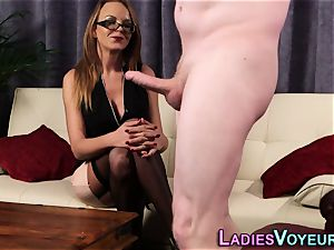big-titted domme mocking dude