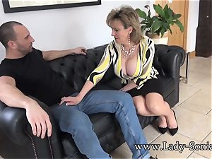 Spanish Fly In dame Sonia's Tea Gets Her horny As shag