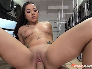 Morgan Lee sucking and penetrating pecker point of view fashion