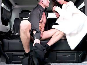 poked IN TRAFFIC - warm Czech diminutive gets fucked in car