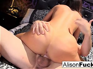 buxom Alison gets pounded rock-hard