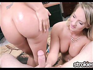 STROKIES Cali Carter and Layla Price dual hand job