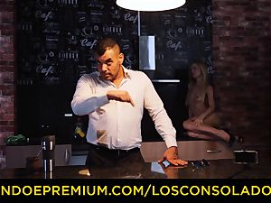 LOS CONSOLADORES - Hungarian ash-blonde gets torn up pov