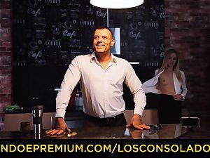 LOS CONSOLADORES - Hungarian ash-blonde gets torn up pov