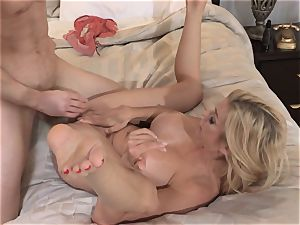 Neighbors wife pt1 cougar Alexis Fawx rides a rock-hard wood