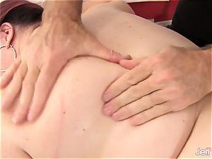 meaty tittied big arse damsel Lynn gets a intercourse rubdown
