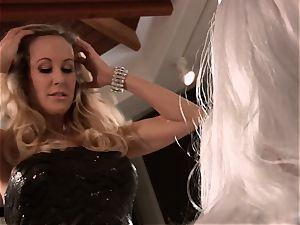 Brandi love pounds a guy in elegant dress