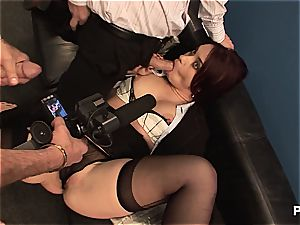 Olga Cabaeva group-fucked by her coworkers