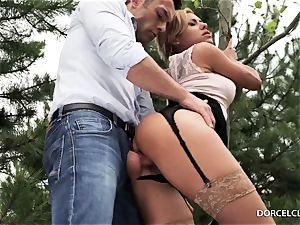 female college girls watch as their teacher gets assfucked in the woods