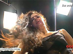 first-timer Nicole get her first-ever mass ejaculation gangbang