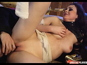 Tina kay has big flow on her wonderful super-cute face from frankenstein