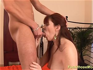 ginger-haired stepmom need a heavy sausage