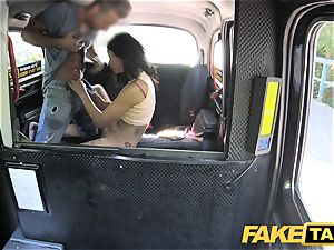 faux taxi luxurious Thai dame with pierced slit lips