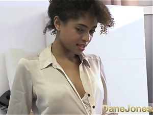Dane Jones fantastic nubile dark-hued office chick