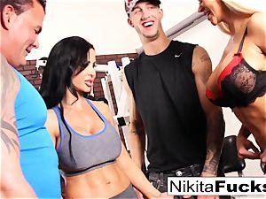 Nikita Von James joins a workout intercourse