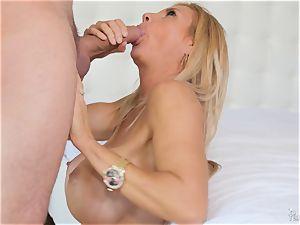 enormous titted mummy Brooke Tyler handles this mom lovinТ salami