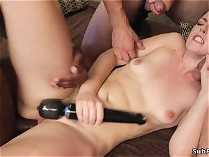 ash-blonde sweetie dp bang-out torn up at the gym