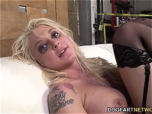 Leya Falcon Gets bum-fucked By A draped ebony man