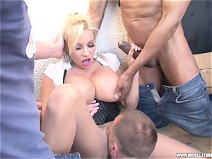 aficionados smoking gang knead jack with Michelle Thorne