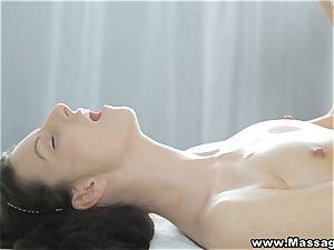 rubdown X - succulent fluid on her pretty lips