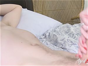AgedLovE big-chested Lacey Starr gonzo and deep throat