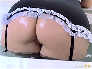 Maid Syren Demer is pummeled and fisted in the rump