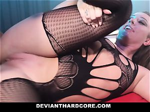 DeviantHardcore - caged super-bitch Gets dominated By bbc
