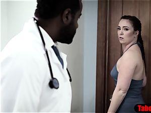 big black cock physician exploits dearest patient into ass-fuck lovemaking examination