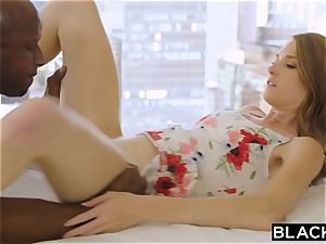 BLACKED ultra-kinky platinum-blonde Grad college girl pummels Married big black cock
