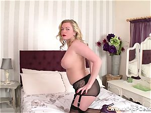nasty mummy toys humid vag in nylons high high-heeled slippers garters