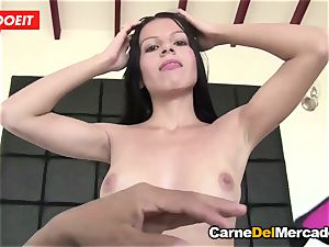 LETSDOEIT - Latina Seduced and screwed By a enormous trunk