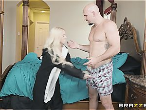 little kitty Kenzie scarcely fits stepbro's dick in her hatch