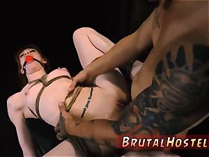 bondage roped ball-gagged gorgeous young ladies, Alexa Nova and Kendall forest, take a train-ride